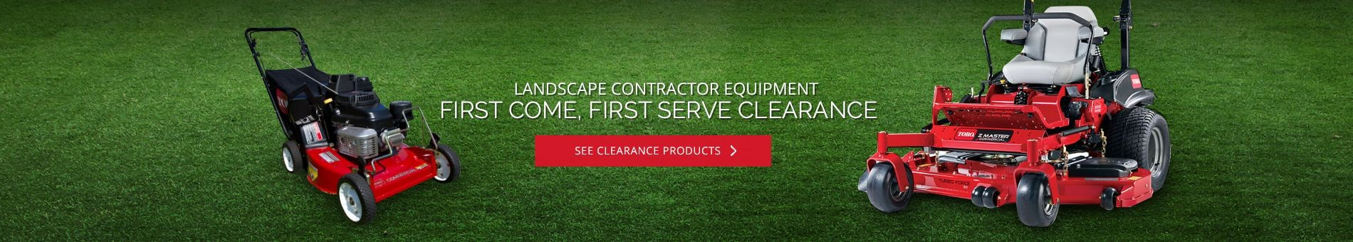 Landscape Contractor Equipment Clearance