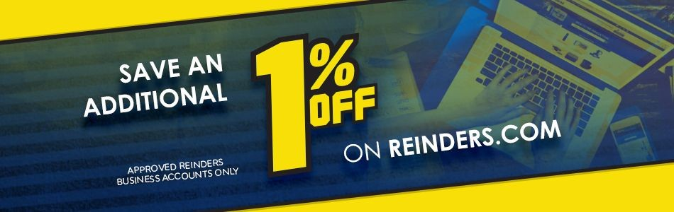 Additional 1% whole order discount for approved Reinders online  business accounts