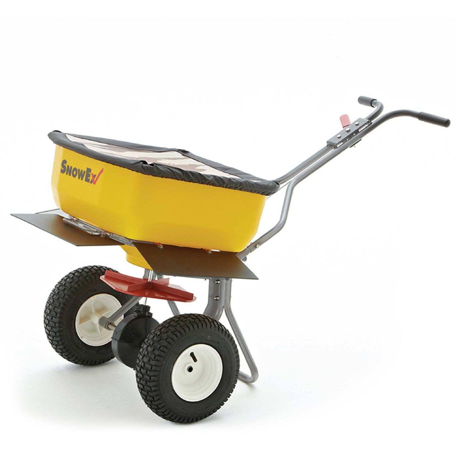 SnowEx - Walk Behind Broadcast Spreader with Stainless Steel Frame - 160 LBS