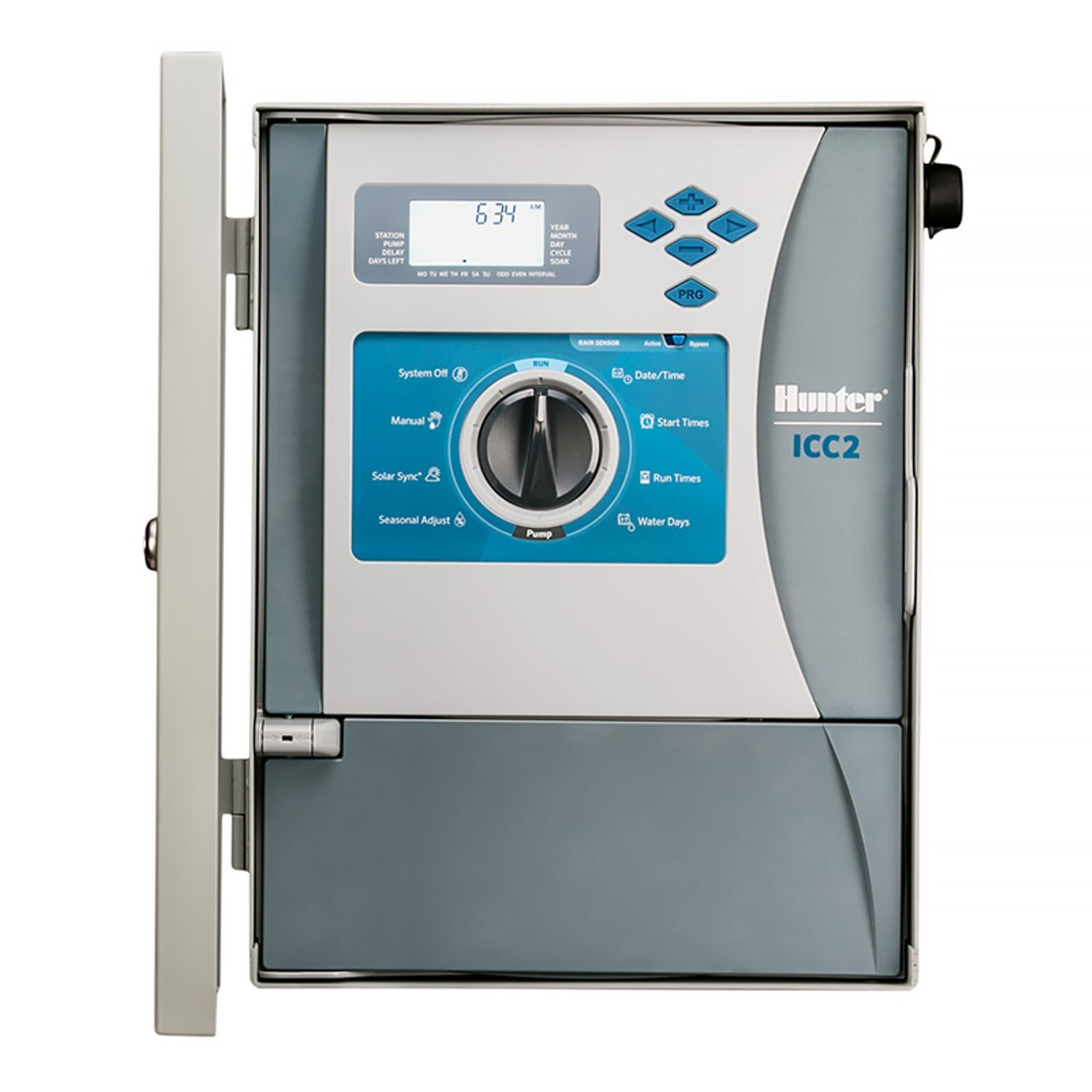 Hunter - ICC2 8 Station Controller with Stainless Steel Outdoor Wall ...