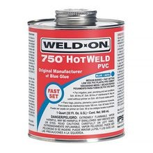 IPS Weld-On - 750 HOTWELD PVC Blue Cement, Medium Bodied, Fast Setting, Quart