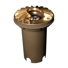 FX - RP Series Well Light with Louver - Natural Brass - No Lamp