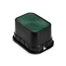 "Rain Bird - 12"" Standard Valve Box with Green Lid"