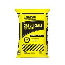Morton® – Safe-T-Salt® Rock Salt - 50 LB Bag