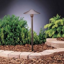 Kichler - Dome 16.25W Incandescent Path Light - Textured Architectural Bronze