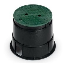 "Rain Bird - 10"" Round Valve Box with Green Lid"
