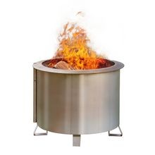 "Breeo - Double Flame 19"" Stainless Steel Smoke Less Fire Pit"