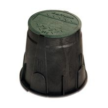 "Rain Bird - 7"" Round Valve Box with Green Cover"