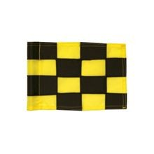 Standard Golf - Sewn Nylong Checkered Flags - 200 Denier - Black & Yellow