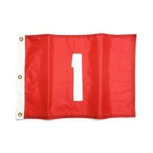 Standard Golf - Nylon Numbered Flags with Grommets - Red with White Numbers - Set 1-9