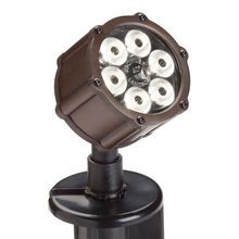 Kichler - 6 LED 8.5W 60° Accent Uplight - 3000K - Textured Architectural Bronze