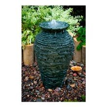 "Aquascape - Small Stacked Slate Urn 25"" Diameter X 39.5"" H"