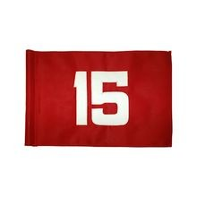 Standard Golf - Tube-Style Heavy Weave Polyester Numbered Flags - Red with White Numbers - Set 10-18