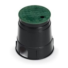 "Rain Bird - 6"" Round Valve Box with Green Lid"