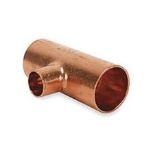 "1"" X 1"" X 1/2"" Copper Reducing Tee C X C X C"