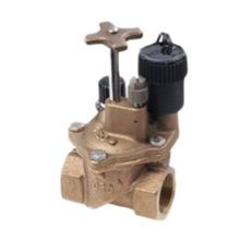 "Toro - 1-1/4"" Brass Electric Angle Valve, Pressure Regulated"