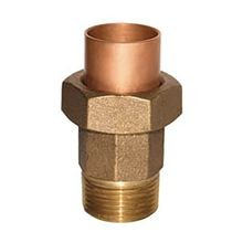 "Legend Valve & Fitting - 3/4"" No Lead Brass Large Body Union - Sweat X MPT"