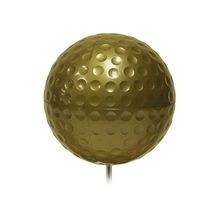 Standard Golf - Plain Dimple-T Marker - Gold