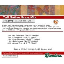 Reinders - Wisconsin Tall Native Grass Mix - 3 LB Bag