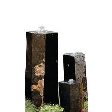 Aquascape - 3 Semi-Polished Stone Basalt Columns