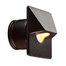 FX - PO Series 1 LED ZD Wall Light with Square Faceplate - Sedona Brown