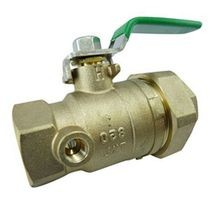"Zurn - 1"" FNPT Union X FNPT, Tapped Ball Valve"