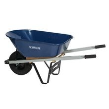 Seymour - 6 CU FT Heavy Duty Wheelbarrow with Steel Tray