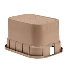 "Rain Bird - 12"" Standard Valve Box Tan Body with Tan Lid"