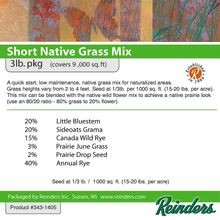 Reinders - Wisconsin Short Native Grass Mix - 3 LB Bag