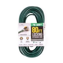 80' Extension Cord - 16 Gauge - Grounded - Green