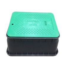 Jumbo Black Irrigation Turf Box, Closed Mouse Holes, with Green