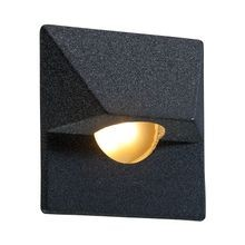 FX - MO Series 1 LED ZD Wall Light with Square Faceplate - Weathered Iron