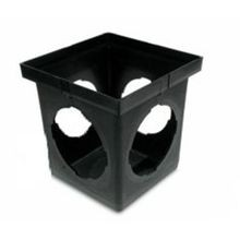 "NDS - 9"" Black 4 Openings Catch Basin"