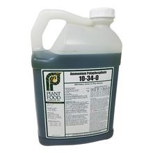 Plant Food Co - 10-34-0 Ammonium Polyphosphate Liquid Fertilizer - Case of 2 - 2.5 GAL Jugs