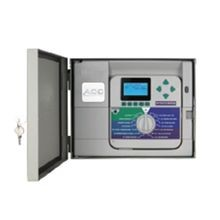 Hunter - 12 Station Controller with Stainless Steel Wall Mount Cabinet, Expandable to 42 Stations