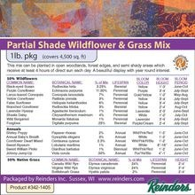 Reinders - Partial Shade Wildflower & Grass Mix - 1 LB Bag