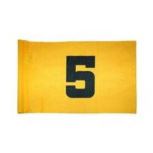 Standard Golf - Tube Style Venti-Knit Numbered Flag - Yellow with Black Numbers - Set 1-9
