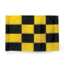Par Aide - Tube Style Regulation Flag - Black & Yellow Checkered - Set of 9