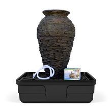 Aquascape - Medium Stacked Slate Urn Landscape Fountain Kit