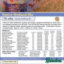 Reinders - Wisconsin Native Wetland Mix - 1 LB Bag
