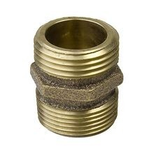 "Champion - 3/4"" X 3/4"" or 1/2"" Brass Non-Swivel Fitting - MHT X Male or FPT"