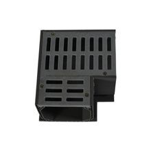 "NDS – Gray 4"" Mini Channel 90° Corner and Grate"