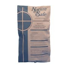 Nature Safe - 16-0-2 Coarse Grade Triple Play Fertilizer - SGN 220-230 - 50 LB Bag