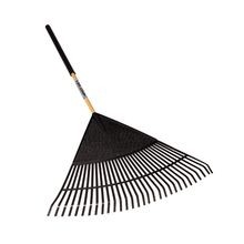 "Midwest Rake - 32"" Poly Leaf Rake with 48"" Wood Handle"