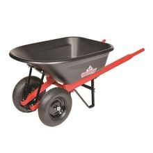 Sterling - 6CF Wheelbarrow with Poly Tray and Dual Pneumatic Tires