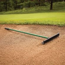 "Par Aide - AccuCurv Bunker Rake - 15"" Head with 54"" Green ProTect Handle - Box of 25"