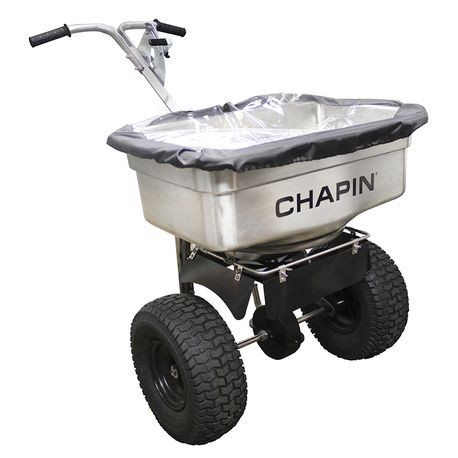 Chapin - Professional Stainless Steel Salt Spreader, 100 LBS