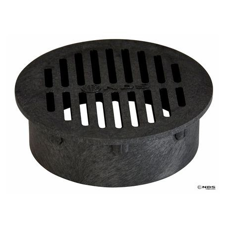 "NDS - 4"" Black Round Grate"