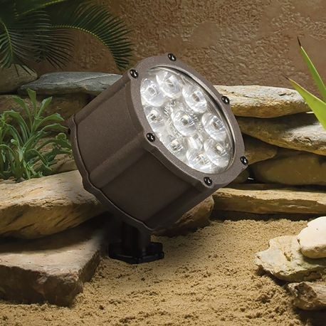 Kichler - 9 LED Accent Light With 60° Spread - Textured Architectural Bronze Finish