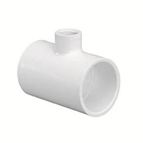 "Spears - 1-1/4"" X 1-1/4"" X 1/2"" Sch40 PVC Reducing Tee Slip X Slip X FPT"